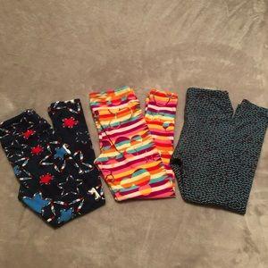 3 pairs of LulaRoe S/M leggings